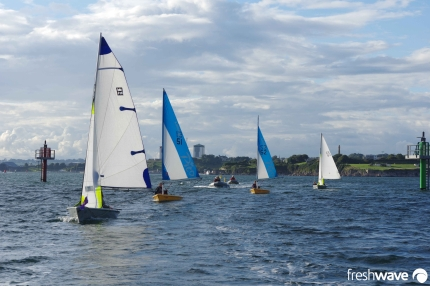 Plym Yacht Club Cadet Section - Tuesday Night Sailing - Photo Shows our cadets on an adventure sail around Drake's Island and through the Bridges channel